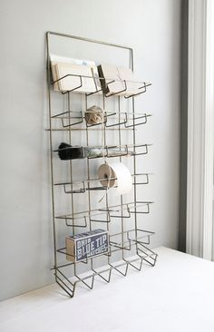 vintage wire shop display / perfect for home office supplies