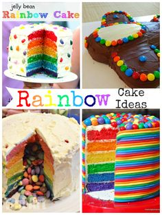 Gorgeous rainbow cake ideas great for parties or kids birthday cakes. Who wouldn't love a rainbow birthday cake!?
