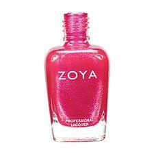 Pink nail polish zoya