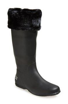 Butterfly Twists 'Windsor' Waterproof Rain Boot (Women) Black Size 7 M on Vein - getVein.com