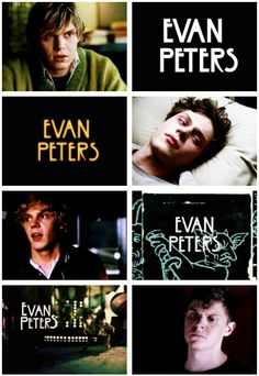 Evan Peters as Tate on Murder House, Kit on Asylum, Kyle on Coven, and Jimmy on Freak Show