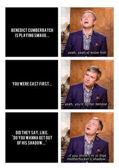 Ha!! Martin Freeman