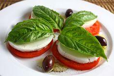 A beautiful mozzarella caprese salad.- this is my favorite summer salad!