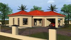 Overall Dimensions- x 1 Car Garage Area- Square meters Beautiful House Plans, Beautiful Homes, Bungalow Floor Plans, Three Bedroom House Plan, Building Costs, My Dream Home, Dream Homes, My House Plans, Farmhouse Kitchen Cabinets