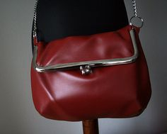 Poppy - leather bag with purse frame - bags and purses