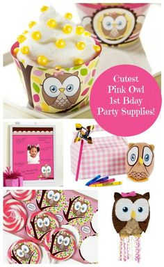Looking for THE CUTEST 1st birthday party supplies ever? You must check out these pink owl Look Whoo's 1 supplies from Birthday Express. I'm in love!