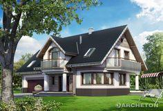 Projekt domu Heliotrop - atrakcyjny i reprezentacyjny dom z garażem dwustanowiskowym