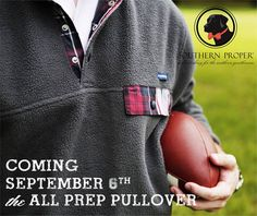The Southern Proper All Prep Pullover is coming soon to Pelican Joe's!