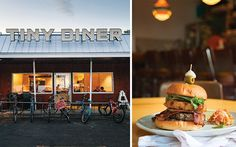 Where does Tiny Diner fit in Kim Bartmann's growing restaurant empire? It's a locally sourced, growing on-site, friendly service diner. Tiny Diner, Onion Rings, Minneapolis, Beets, Farmers Market, Deli, Hamburger, Drinks, Drinking