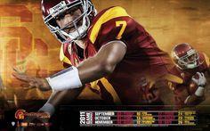USC 2011 Football Schedule Wallpaper featuring Matt Barkley