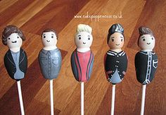 One Direction cake pops