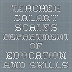 Teacher Salary scales - Department of Education and Skills Salary Scale, Teacher Salary, Financial Information, Periodic Table, Education, Periodic Table Chart, Periotic Table, Onderwijs, Learning