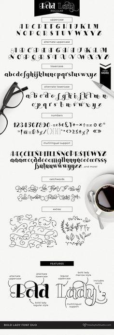 Bold Lady Font duo - Serif