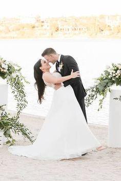 Romantic wedding photo of a bride and groom on their outdoor ceremony | Simply Elegant by Diana Dorsey Latinx- Hispanic-Wedding