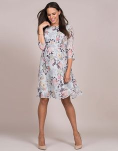 Floral print maternity dress for wedding guests Beautiful Maternity Dresses,  Stylish Maternity, Maternity Outfits b33c4f4efc