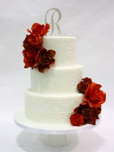 IDC-143 I Do Wedding Cakes Toronto -  Like the Cake Detailing/design, would just add gold accents and blush florals