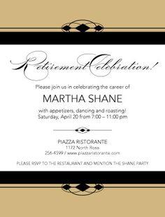 Retirement invite