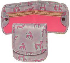 """Doggies"" Original Leather Taxi Wallet By Alicia Klein (Pink) Alicia Klein, http://www.amazon.com/dp/B007PS0J8I/ref=cm_sw_r_pi_dp_cDcbrb0VWR7KW"