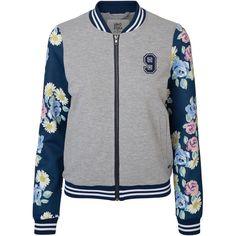 Vero Moda Flower Bomber Blazer ($39) ❤ liked on Polyvore featuring outerwear, jackets, blazers, tops, coats, flower print blazer, floral print bomber jacket, long sleeve jacket, floral print blazer and floral blazer