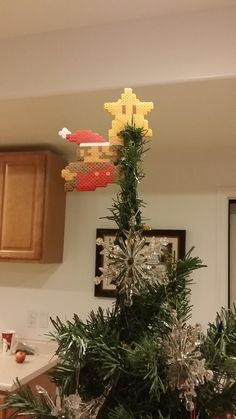 Hey, we need a star for this tree. Thanks, Mario!