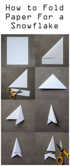 How to fold paper to make a snowflake