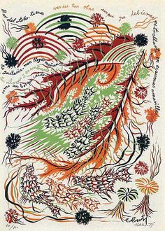 Liricografía IX de Rafael Alberti: «Mar del otoño»