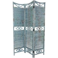 5½ ft. Tall Rustic Slatted Room Divider - OrientalFurniture.com