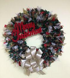 14 Merry Christmas Wreath by PensPreciousTreasure on Etsy