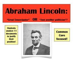 abraham lincoln great emancipator essay Does abraham lincoln deserve the accolade the great emancipator (essay sample.