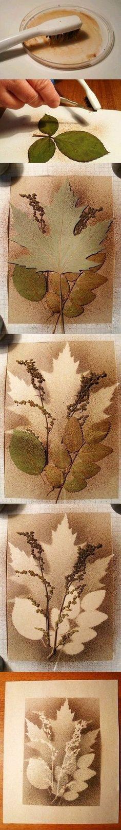Quadros decorado com folhas
