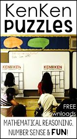 I love math games that naturally bring out kids' mathematical reasoning. KenKen puzzles are perfect for this. As warm ups or early finisher activities, KenKen puzzles allow students to explore their number sense while also having fun. Math Early Finishers, Early Finishers Activities, I Love Math, Math Challenge, Was Ist Pinterest, 7th Grade Math, Third Grade, Fourth Grade, Fun Math Games