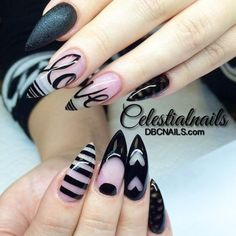 Simple and beautiful stiletto nails design