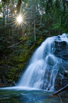 Idaho, North, Boundary County, Bonners Ferry. Upper Snow Creek Falls in the Selkirk Mountains of the Kaniksu National Forest.