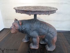 black forest carved bear table lifesize black forest carving deluxe