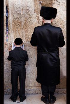 Prayers by the Wailing Wall - Jerusalem