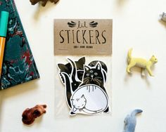 Cat Sticker Pack - Set of 6 - Vinyl Stickers - Hand Drawn Sticker - Kitty Sticker - Cat Sticker - Cat Lover - Cat Lady Sticker Zine, Desing Inspiration, Beautiful Lettering, Artist Alley, Cat Stickers, Craft Fairs, Cute Drawings, Cat Lovers, How To Draw Hands