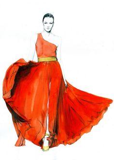 Caroline Andrieu  - Fashion Illustrations by Caroline Andrieu  <3 <3