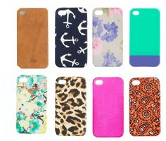 Super cute J.Crew iPhone cases...I bet Cheryl has something neat.