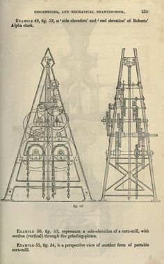 illustrated architectural, engineering, & mechanical drawing-book by R.S. Burn, [18--?] London
