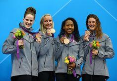Olympics Women's Swimming. Go USA!