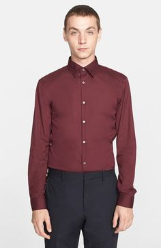 Burberry London 'Seaford' Trim Fit Dress Shirt available at #Nordstrom