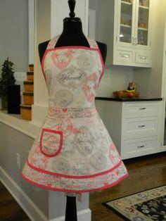 Bridal/Wedding Double Skirt Apron by MyEmptyNestDesigns on Etsy, $36.50