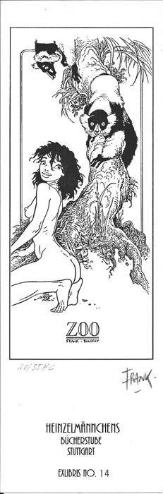 Frank (Pé, Frank)  - Zoo - bookplate - W.B.