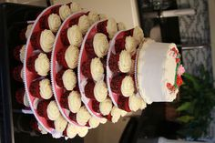 Red Velvet Cupcake Wedding Cake
