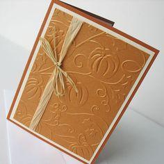 thanksgiv card, card inspir, greet card, emboss paper, thanksgiving cards handmade, greeting cards, note cards, thankyou card