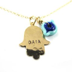 Handstamped  Necklace  Personalized Necklace  by SariGlassman, $49.00