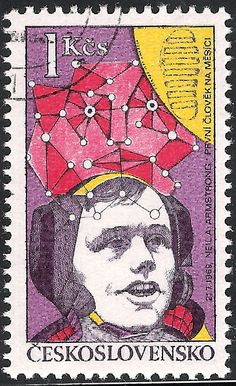 Space stamp, from the ugliest series of stamps I've seen  Czechoslovakia