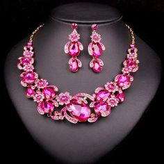 8 Colors Flowers Bridal Jewelry Sets Wedding Necklace Earring For Brid – USMART NY