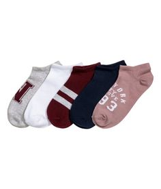 69d161138a30 Check this out! Fine-knit trainer socks in a soft cotton blend. - Visit  hm.com to see more.
