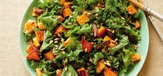 When you're looking for a filling salad that burst with flavor, this Kale and Maple-Roasted Sweet Potato salad from my new weight loss cookbook, The Healthy You Diet, is simply perfect. The sweet